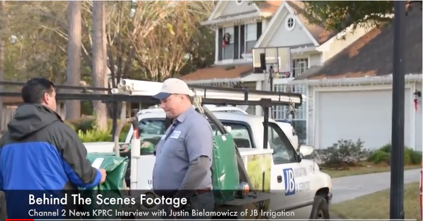 Behind The Scenes Footage – KPRC Channel 2 News Freeze Protection Interview