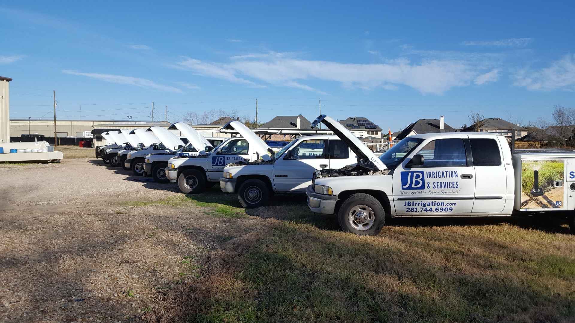 Getting Our Fleet Ready For Your Sprinkler System Service Calls – Oil Change And Fleet Maintenance Days At JB Irrigation
